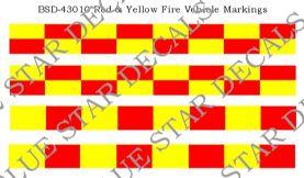 Red & Yellow Battenberg Vehicle Markings